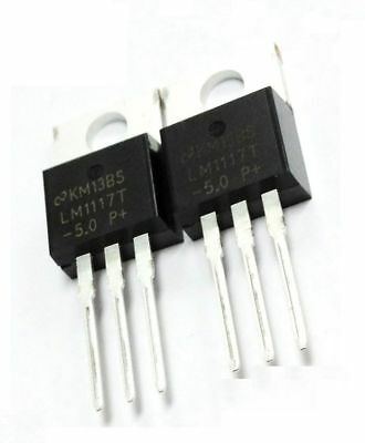 50 Pcs LM1117T-5.0 NSC IC REG LDO 5.0V 0.8A TO220