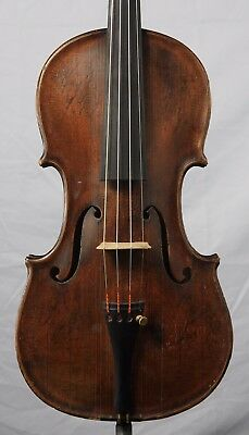 Nice Old Antique 4/4 Violin Labeled B.F. Ferguson Fayette, MO One Piece Back
