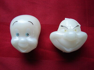 Casper Friendly Ghost GLOW in DARK Candy holders 2 DIFFERENT GHOSTS UNUSED