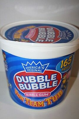 America's Original DUBBLE BUBBLE BUBBLE GUM 165 pieces 765g Fun Team Tub