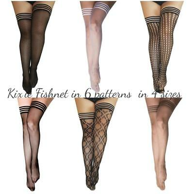 Women Oil Shiny Glossy High Stockings Lace Silicone Stay Up Thigh-Highs Hosi /_TT