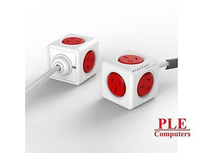 Allocacoc PowerCube Extended Red 1.5M [5300/AUEXPCRED]