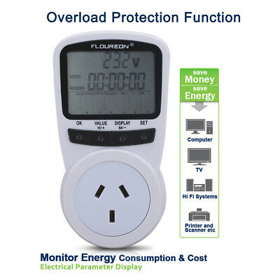 Energy Saving Power Meter Electricity Usage Monitor Socket Overload Protection