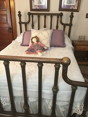 Antique Bed, Metal, Brown