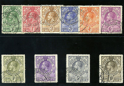 Swaziland 1933 KGV set complete very fine used. SG 11-20. Sc 10-19.