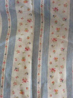 50 x115cm vintage semi sheer patterned stripe Voile Fabric  1960's