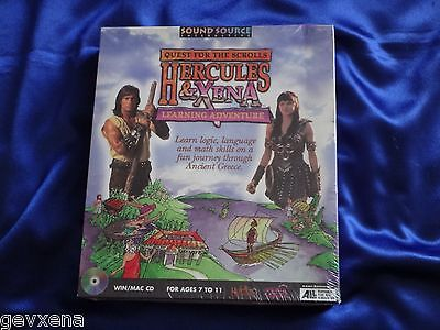 VERY RARE VINTAGE Xena & Hercules Quest For The Scrolls Learning Adventure Game