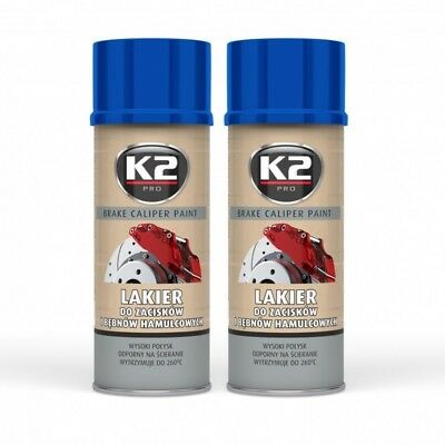 K2 BRAKE CALIPER PAINT 2x 400ml Blau Bremssattel Bremstrommel Spray