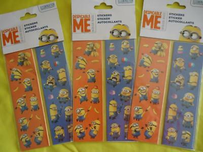 Despicable Me - Stickers - 24 Sheets - Minions  Birthday Party  -  Sale !!!