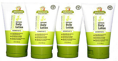 BabyGanics Smooth Moves Soothing Daily Baby Lotion Cucumber Aloe 3oz 4 Pack