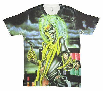 Iron Maiden Killers All Over Sublimated Print White T Shirt New Official