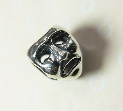 Pandora S925 ALE Theater Mask Charm (RETIRED) 791177 With Tissue & Pop-up Box