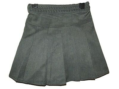 New Girls Ex Store Grey A Line Pleated Plaited Waist School Skirt Age 5-12 Ee