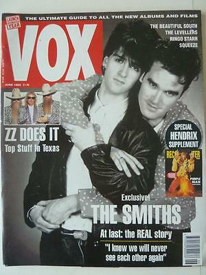 Vox Music Magazine June 1992 The Smiths ZZ Top The Beautiful South Jimi Hendrix