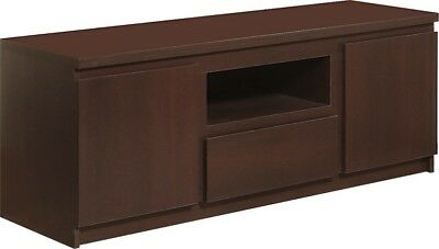 Pello Dark Mahogany Home Living Furniture 2 Door 1 Drawer Tv Cabinet Stand Unit