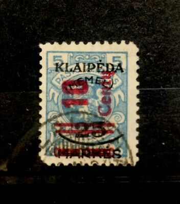 Germany Memel Klaipeda Stamps Scott#87 Used