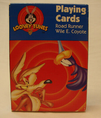 SEALED 1997 RoadRunner Wile E Coyote LOONEY TUNES Playing Cards 430R + 2nd Deck
