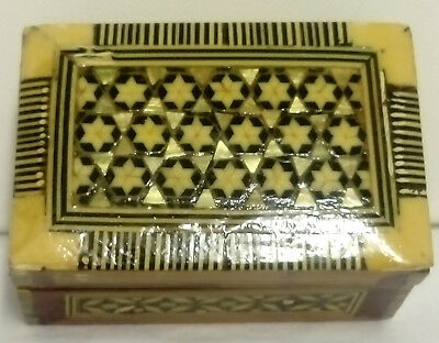 Vintage, Moorish Style, Little Hand Made, Inlaid Box, Good Condition