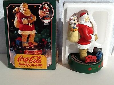 1993 Coca-Cola Santa Claus Die-Cast Metal Mechanical Bank