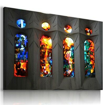 STAINED GLASS Abstract Modern PRINT Canvas Wall Art Picture AB581 MATAGA