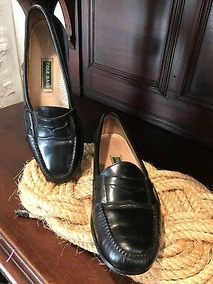 26a2efb2192 MEN S COLE HAAN Pinch Buckle Dress Loafers Black Leather Size 11D ...