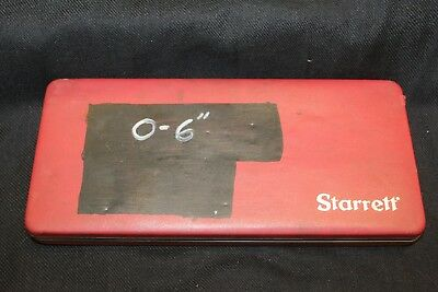"STARRETT DEPTH MICROMETER ~ 0-6"" ~ #443 In Original Case ~"
