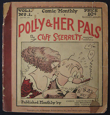 Comic Monthly January 1922 Polly and Her Pals Cliff Sterrett