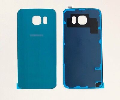 New Samsung Galaxy S6 SM-G920F Back Rear Glass Battery Cover Adhesive Coral Blue