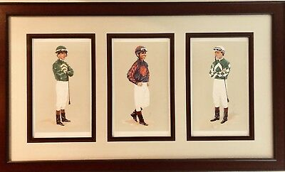 Framed Vintage Jockey Prints Albarado Smith & Perret