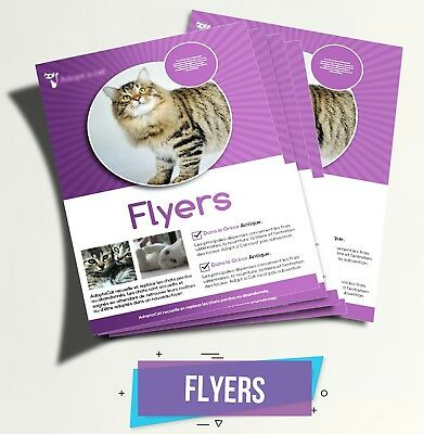 "500 Custom Color Printed Flyers - Single Sided - 8.5"" x 11"""