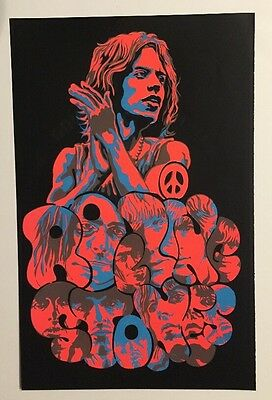 Rolling Stones Blacklight Poster Pin-up Print Quebec Love Double Sided Headshop