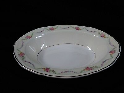 Vintage Knowles James Floral Festoon Pattern Oval Serving Bowl FREE SHIPPING!