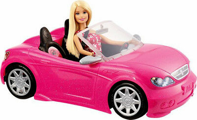 Mattel,barbie My Glam Convertible Sports Car Playset,w/ Barbie Doll,kids,3+,new