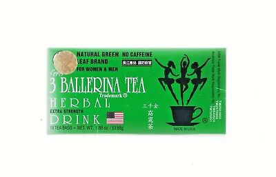 3 Ballerina Tea EXTRA STRENGTH 18 Tea Bags Slim Tea Diet Tea Drink Weight Loss