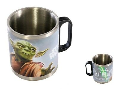 Disney Star Wars Mug Cup Kids Cup Coffee Silver Stainless Steel Yoda