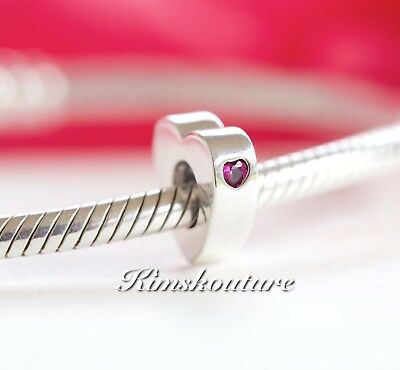 "NEW! Authentic Pandora Two Hearts ""You and Me"" Spacer, Clear CZ 796559CZR"