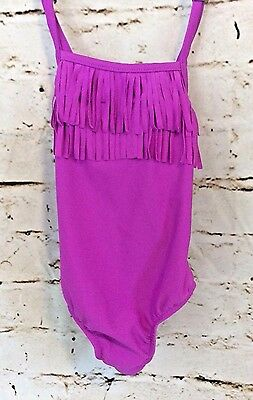 NWT CARTER's Size 24 Months Girls Purple One Piece Fringe Bathing Suit