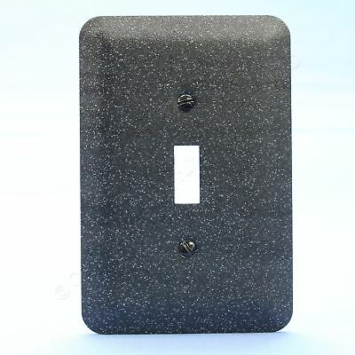 New Leviton JUMBO Black Granite Metal Decorative Light Switch Cover Wall Plate