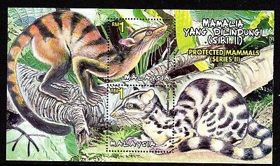 2000 MALAYSIA PROTECTED MAMMALS 2nd series minisheet SG932 mint unhinged