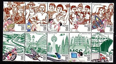 2000 MALAYSIA NEW MILLENNIUM PEOPLE AND ACHIEVEMENTS block SG840a mint unhinged
