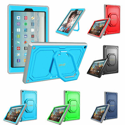 """Shockproof Case Cover w/ Grip Stand For Amazon Fire HD 10 7th 2017 10.1"""" Tablet"""