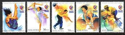 2001 MALAYSIA 21st SOUTH-EAST ASIAN GAMES SG1031-1035 mint unhinged
