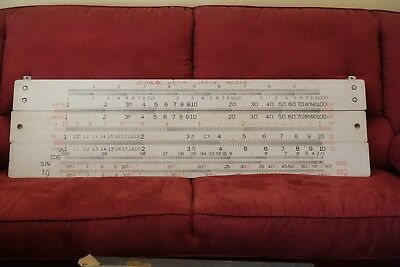 Unusual Slide Rule Sun Hemmi No 130 For Classroom Demonstration Use 140Cm