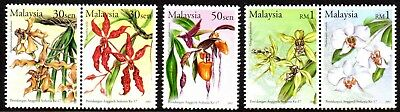 2002 MALAYSIA 17th WORLD ORCHID CONFERENCE SG1066-1070 mint unhinged