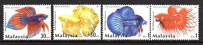 2003 MALAYSIA SIAMESE FIGHTING FISH SG1133-1136 mint unhinged
