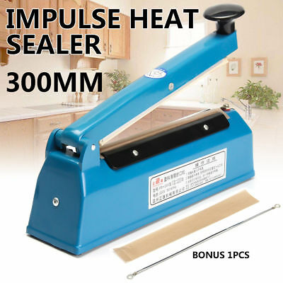 New FS300 Impulse Heat Sealer Electric Plastic Poly Bag Hand Sealing Machine AU