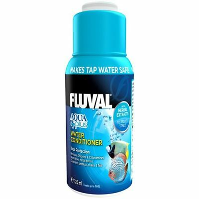 Fluval Aqua Plus Water Conditioner 120ml for Tropical Fish Tank Aquarium