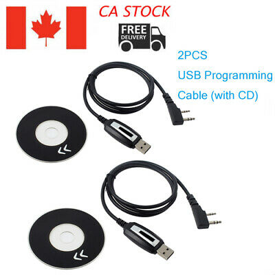 USB Programming Cable & Program Software CD for Baofeng UV-5R BF-888S Radios CA