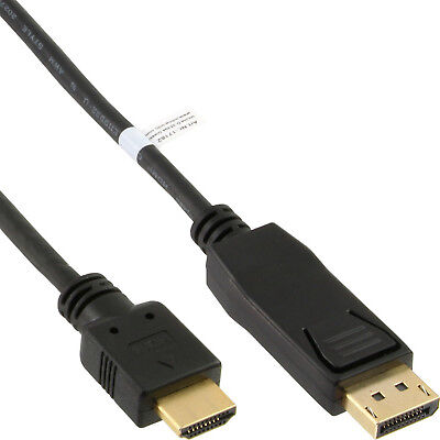 DisplayPort to HDMI Converter Cable black 0.5m