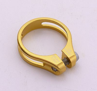 mr-ride 9g Road MTB bike SeatPost Clamp 34.9 Ti Bolt Gold for token,kcnc